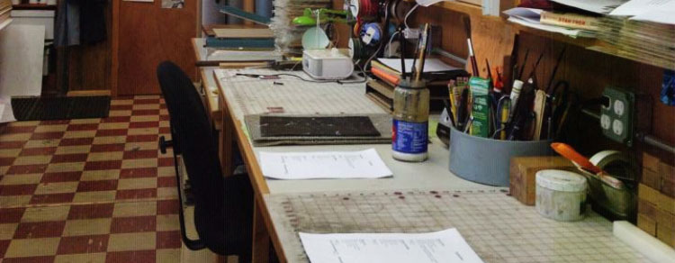 Bindery workspace