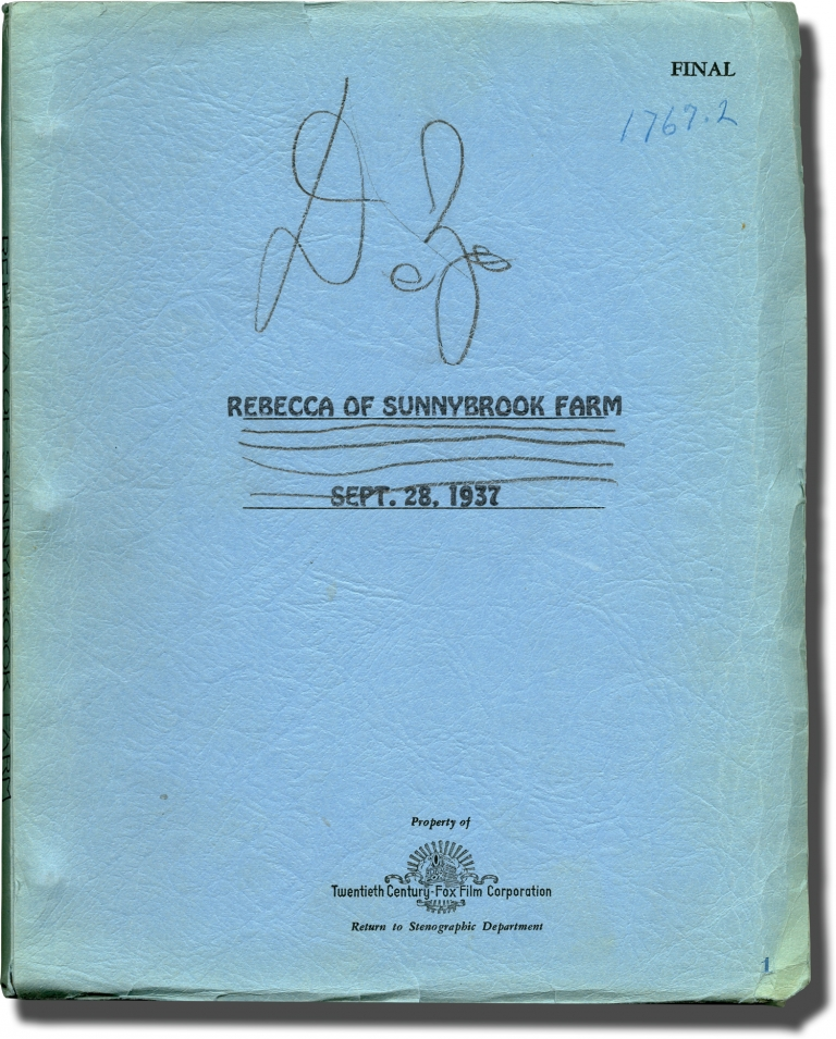 Rebecca of Sunnybrook Farm. Kate Douglas Wiggin, Allan Dwan, Darryl F. Zanuck, Randolph Scott Shirley Temple, Karl Tunberg Don Ettlinger, novel, director, producer, starring, screenwriters.
