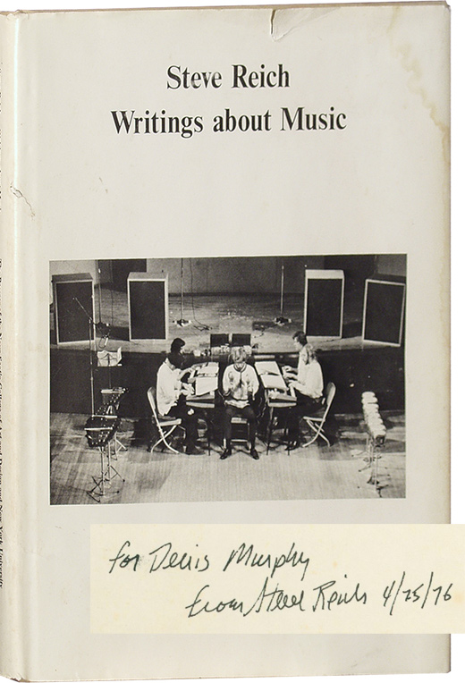 Writings about Music. Steve Reich.