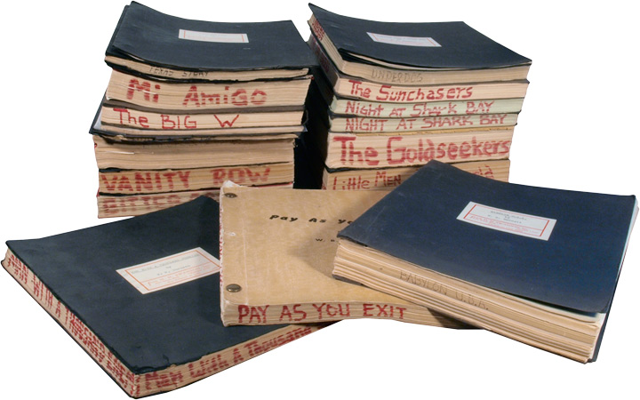 Archive of screenplay and manuscript material by W.R. Burnett. W. R. Burnett, H N. Swanson.