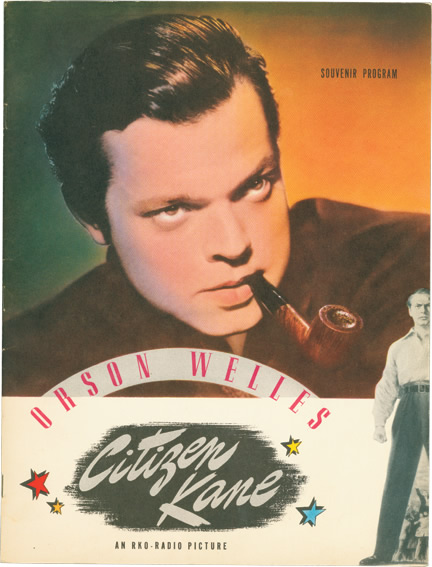 Orson Welles' Citizen Kane: Souvenir Program. Orson Welles.