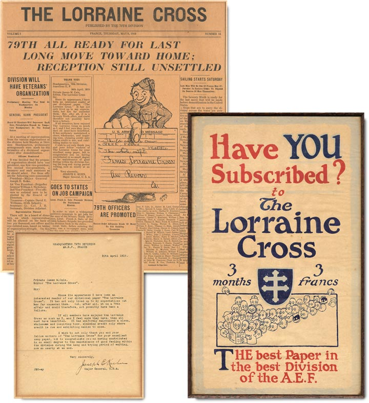 Archive of material relating to The Lorraine Cross. James M. Cain.