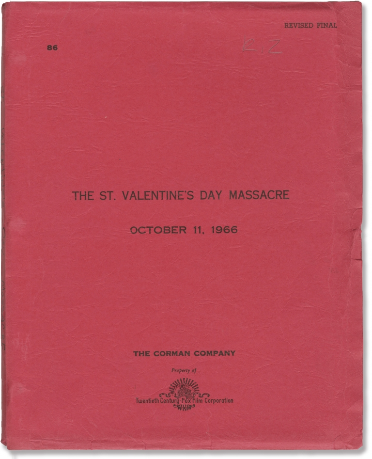 The St. Valentine's Day Massacre. Howard Browne, Roger Corman, George Segal Jason Robards, Ralph Meeker, screenwriter, director producer, starring.
