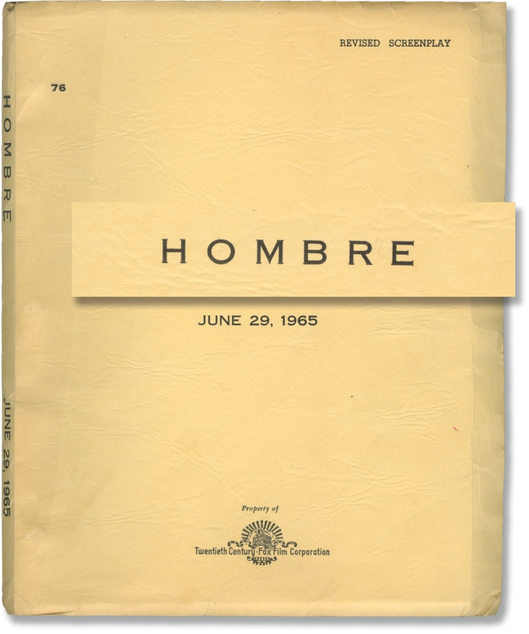 Hombre. Elmore Leonard, novel, Martin Ritt, director, Harriet Frank Irving Ravetch, Jr., screenwriters, Richard Boone Paul Newman, Martin Balsam, Barbara Rush, Cameron Mitchell, Fredric March, starring.