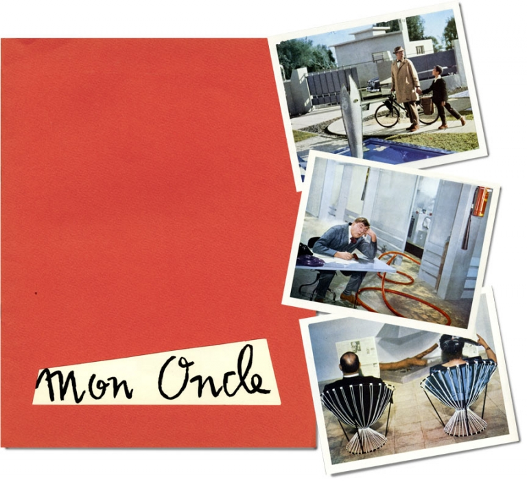 Mon Oncle. Jacques Tati, starring director, Rene Peron, illustrator.