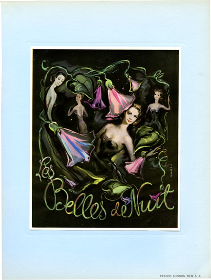 Les Belles de Nuit [The Beauties of the Night]. Rene Clair, screenplay director, producer, Gina Lollobrigida, starring.