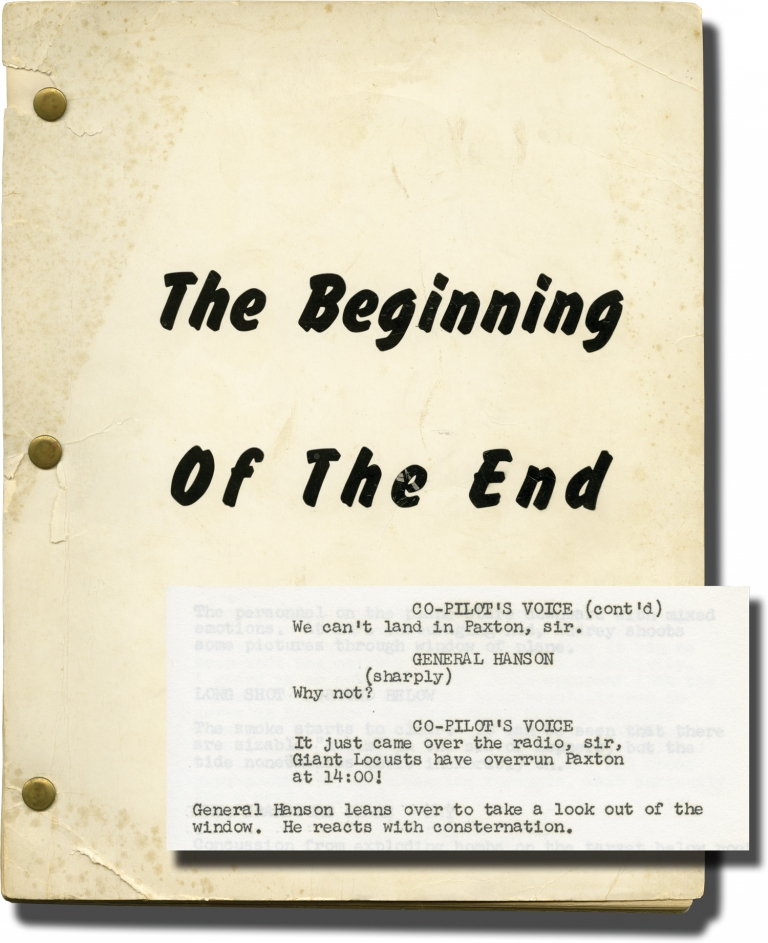 The Beginning of the End. Bert I. Gordon, Peter Graves, original story director, starring.