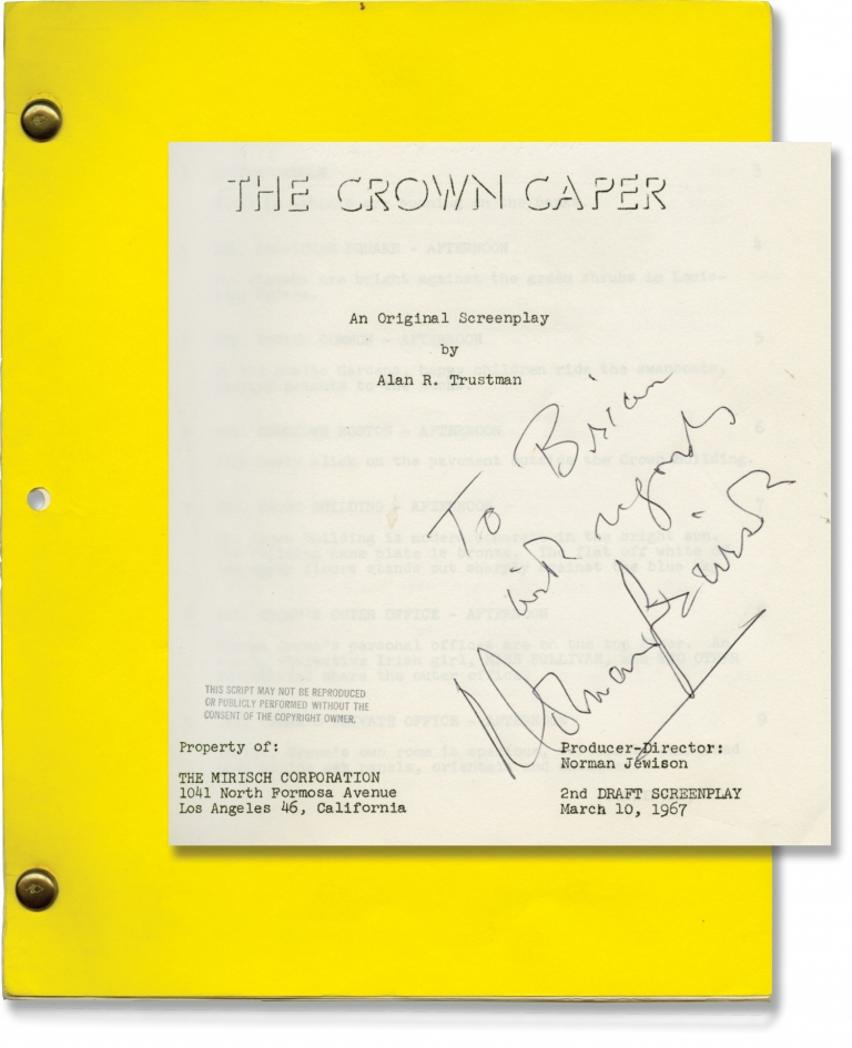 The Thomas Crown Affair [The Crown Caper]. Norman Jewison, director, Alan R. Trustman, screenwriter, Faye Dunaway Steve McQueen, starring.