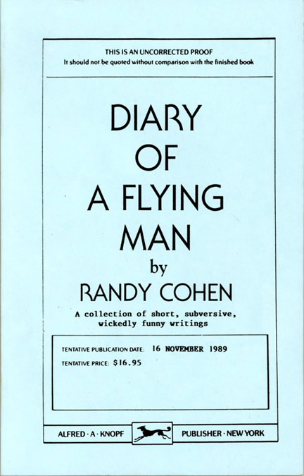 Diary of a Flying Man. Randy Cohen.