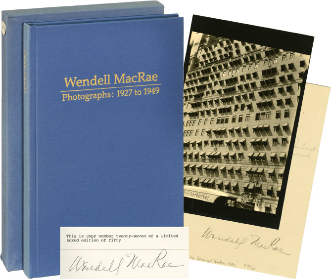 Wendell MacRae, Photographs: 1927 to 1949. Wendell MacRae, Scotia W. MacRae, introduction as told to, Lee D. Witkin, foreword, opening remark, Anita MacRae Feagles.