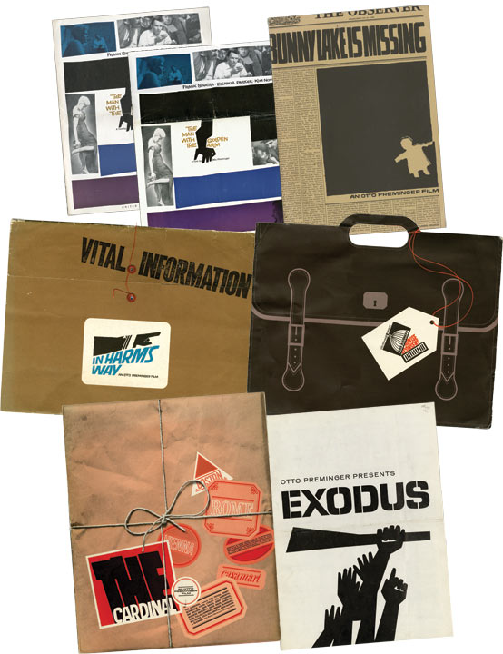 An archive of pressbooks designed by Saul Bass. Saul Bass, designer, Otto Preminger, director.