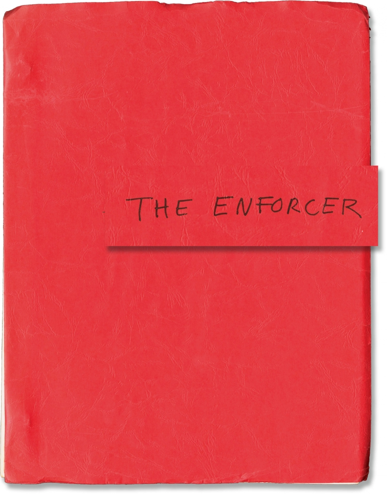 The Enforcer. Clint Eastwood, starring, Dean Riesner, screenwriter, James Fargo, director.