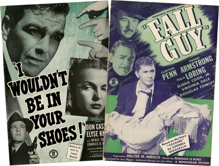 Fall Guy / I Wouldn't Be in Your Shoes. Cornell Woolrich.
