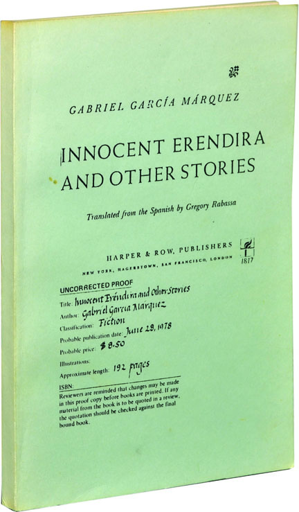 Innocent Erendira and Other Stories. Gabriel Garcia Marquez.