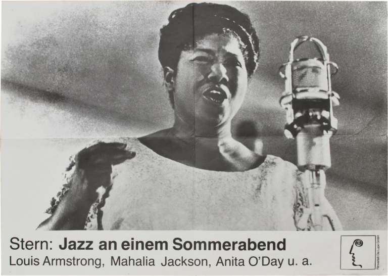 Stern: Jazz an einem Sommerabend [Jazz on a Summer's Day]. Bert Stern, cinematographer director, Mahalia Jackson Louis Armstrong, Anita O'Day, performers.