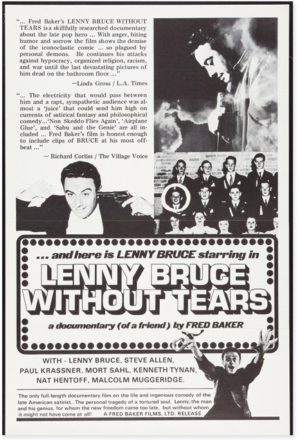 Lenny Bruce Without Tears. Lenny Bruce, Fred Baker, director.