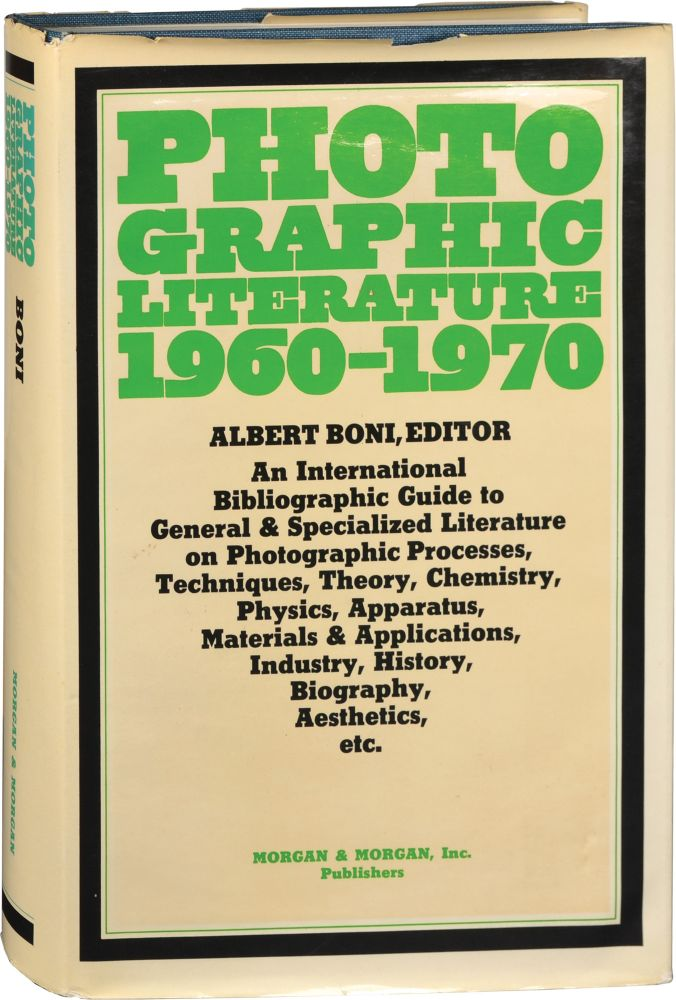 Photographic Literature, 1960-1970. Albert Boni.