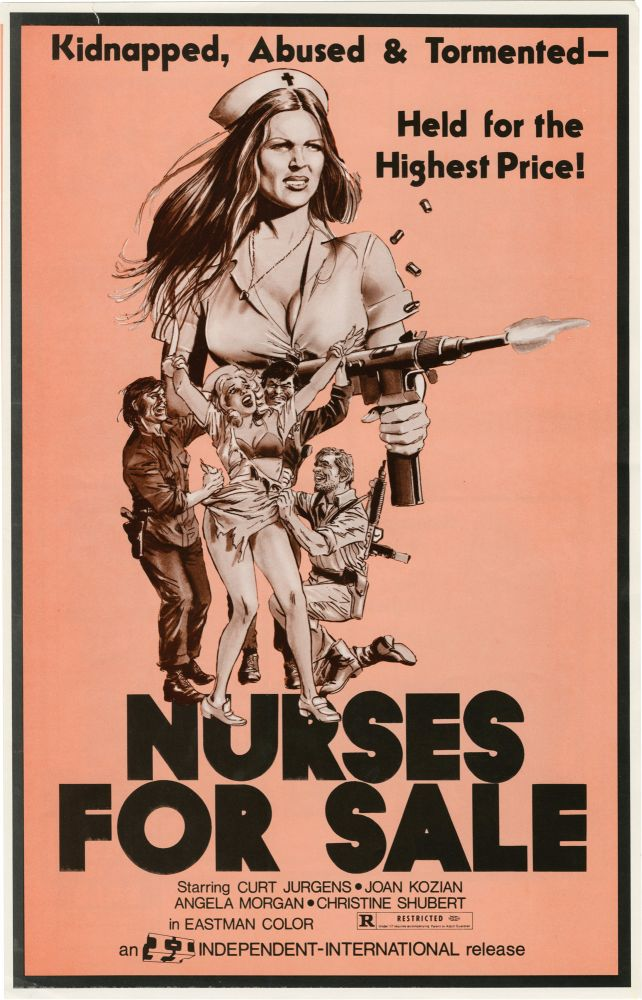 Nurses for Sale. Rolf Olsen, screenwriter director, Curt, Joan Kozian Curd Jurgens, Christine Shubert, Angela Morgan, starring.