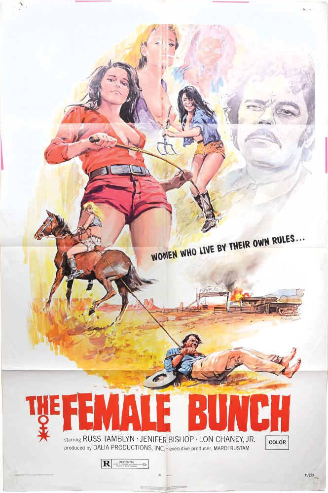 The Female Bunch. Al Adamson, Jale Lockwood Ralph Nussbaum, Brent Nimrod, Russ Tamblyn Lon Chaney Jr., A'lesha Lee, Jenifer Bishop, director, screenwriters, starring.