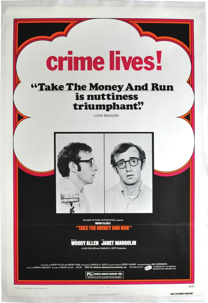 Take the Money and Run. Woody Allen, starring directorm screenwriter.