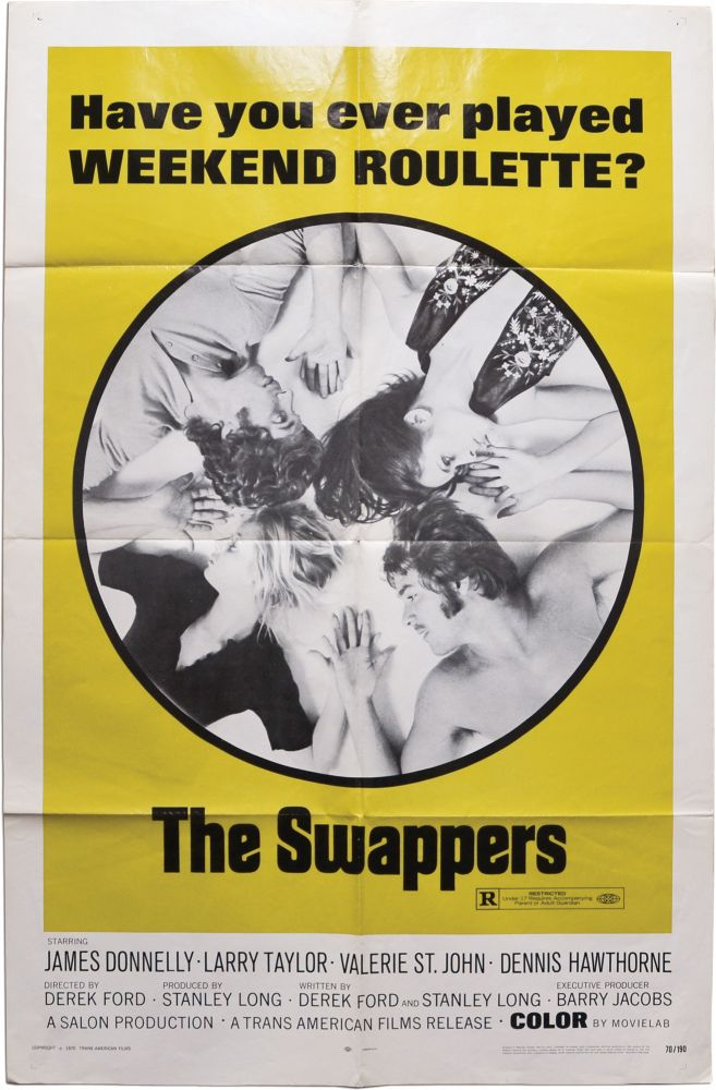 The Swappers. Derek Ford, Barry Jacobs Stanley Long, Larry Taylor James Donnelly, Denys Hawthorne, Valerie St. John, screenwriter director, screenwriters, starring.