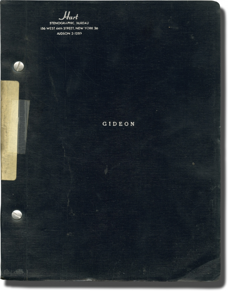 Gideon. Paddy Chayefsky, Fredric March Douglas Campbell, Lorraine Egypt, Eric Berry, playwright, starring.