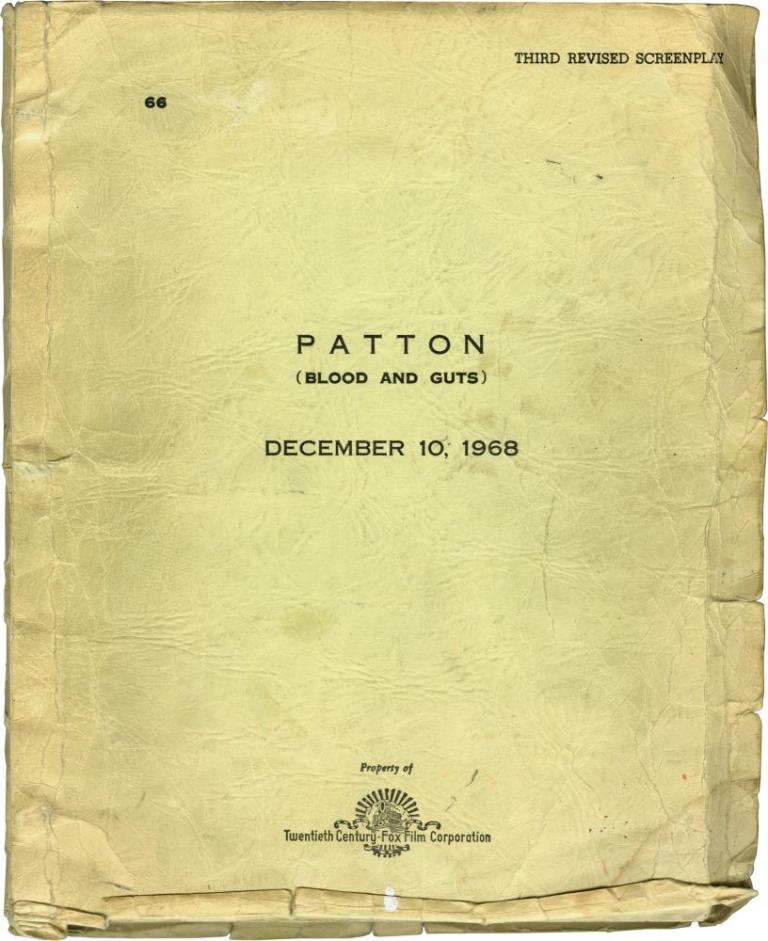 Patton. Franklin J. Schaffner, Edmund H. North Francis Ford Coppola, Karl Malden George C. Scott, director, screenwriters, starring.