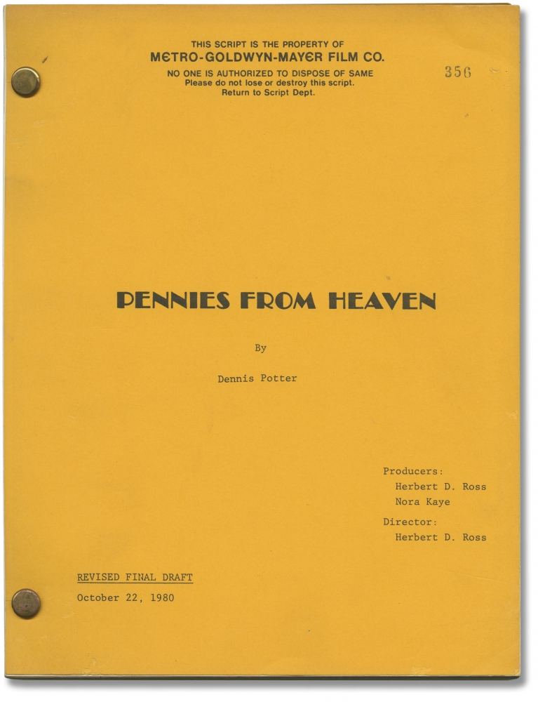 Pennies from Heaven. Herbert Ross, Dennis Potter, Bernadette Peters Steve Martin, director, screenwriter, starring.