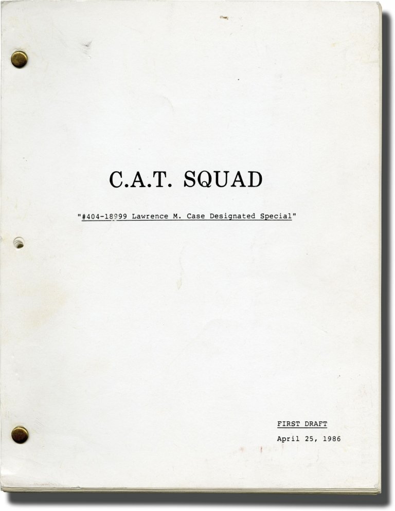 C.A.T. Squad. William Friedkin, Gerald Petievich, Jack Youngblood Joe Cortese, Patricia Charbonneau, Steve James, director, screenwriter, starring.