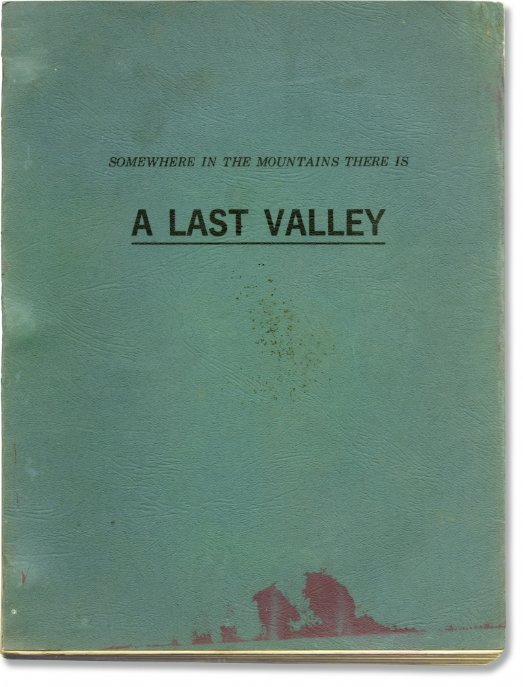 The Last Valley [Somewhere in the Mountains There is a Last Valley]. James Clavell, J B. Pick, Omar Sharif Michael Caine, Nigel Davenport, Florinda Bolkan, screenwriter director, producer, novel, starring.