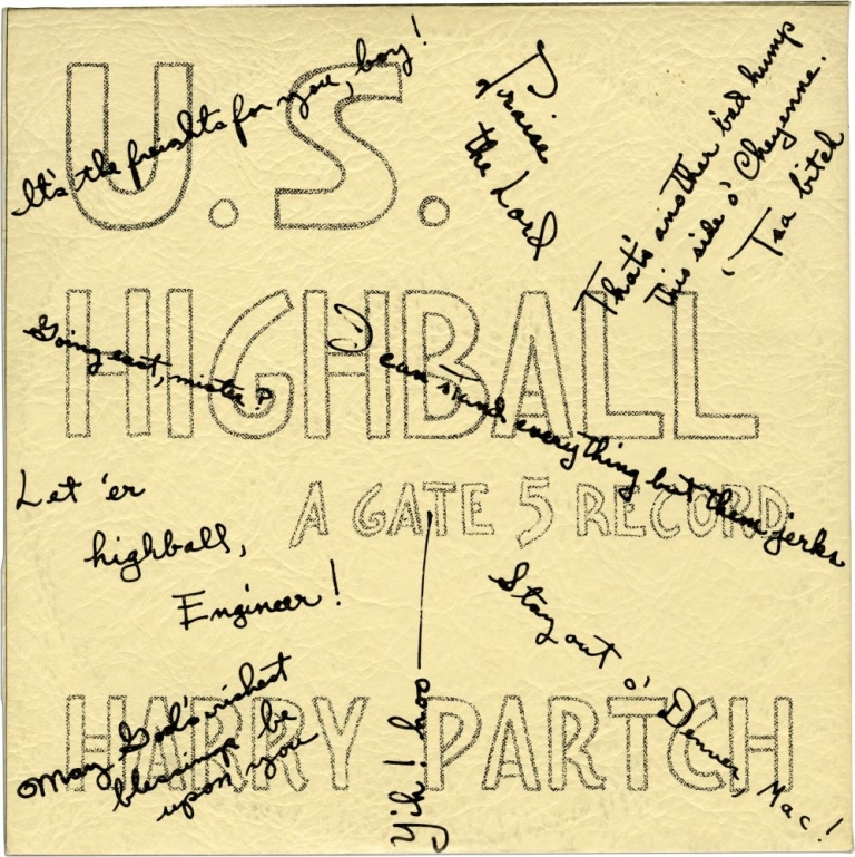 U.S. Highball - Gate 5 Records, Issue No. 6. Harry Partch.