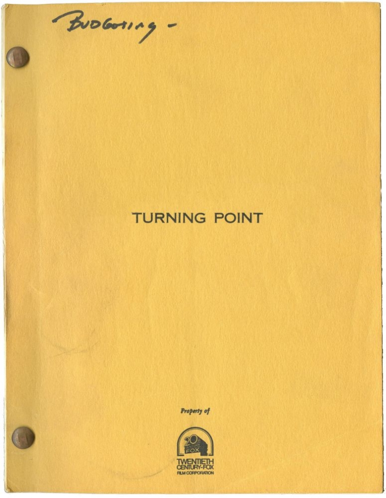 The Turning Point. Herbert Ross, Arthur Laurents, Shirley MacLane Anne Bancroft, Mikhal Baryshnikov, producer director, producer screenwriter, starring.