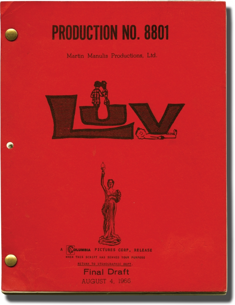 Luv. Clive Donner, Elliot Baker, Murray Schisgal, Martin Manulis, Gerry Mulligan, Peter Falk Jack Lemmon, Nina Wayne, Elaine May, director, screenwriter, playwright, producer, score, starring.