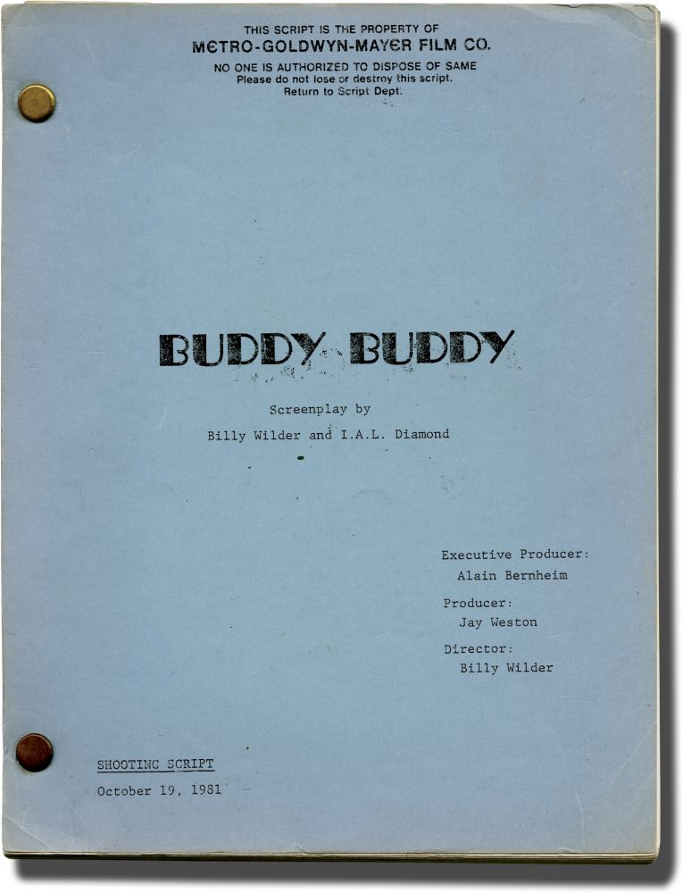Buddy Buddy. Billy Wilder, Francis Veber, I A. L. Diamond, Walter Matthau Jack Lemmon, Klaus Kinski, Paula Prentiss, screenwriter director, playwright, screenwriter, starring.
