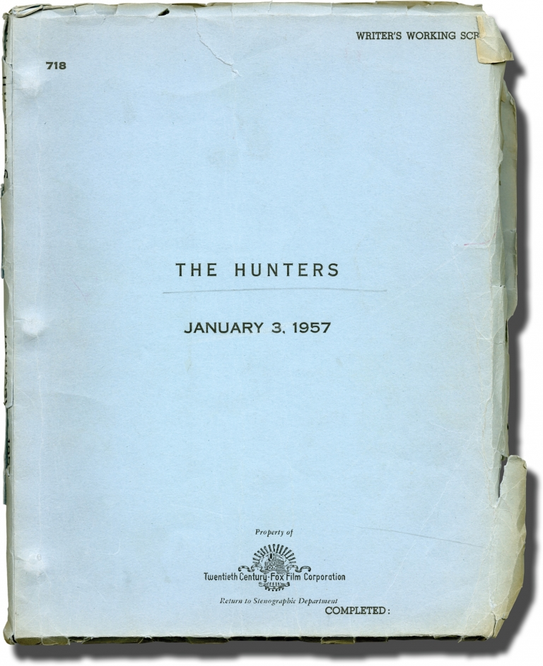 The Hunters. Dick Powell, Richard Murphy Wendell Mayes, Robert Wagner Robert Mitchum, May Britt, Richard Egan, producer director, screenwriters, starring.