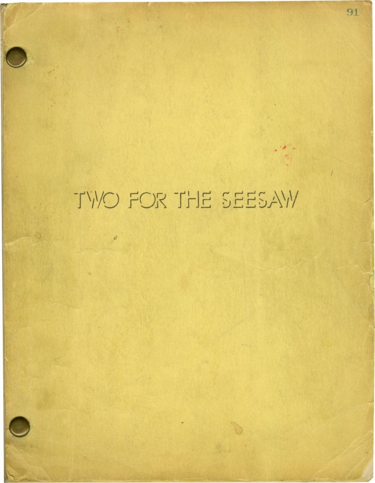 Two for the Seesaw. Robert Wise, William Gibson, Isobel Lennart, Robert Mitchum Shirley MacLaine, director, playwright, screenwriter, starring.