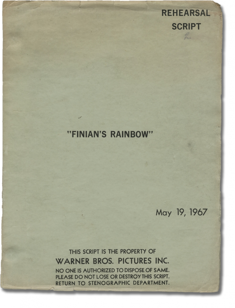 Finian's Rainbow. Francis Ford Coppola, E Y. Harburg, Fred Saidy, Petula Clark Fred Astaire, director, novel, screenwriter, starring.