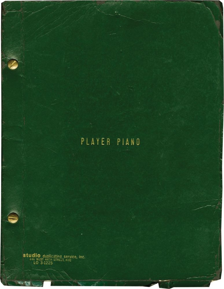Player Piano. Kurt Vonnegut Jr., Sheldon Patinkin Alan Arkin, novel, screenwriter.