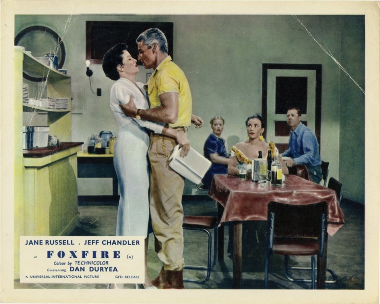 Foxfire. Joseph Pevney, Ketti Frings, Jeff Chandler Jane Russell, Mara Corday, Dan Duryea, director, screenwriter, starring.