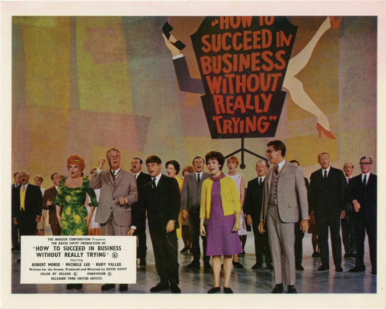 How To Succeed in Business Without Really Trying. David Swift, Shepherd Mead, Michele Lee Robert Morse, Anthony Teague, Rudy Vallee, screenwriter director, novel, starring.
