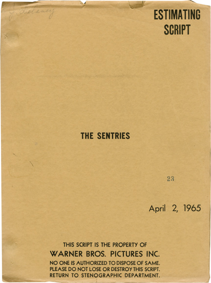 The Sentries. Robert Dozier, screenwriter.