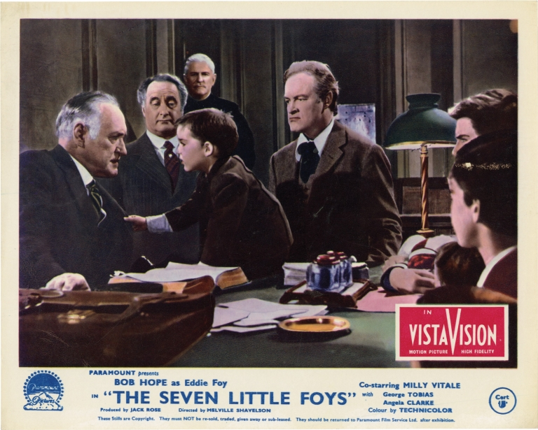 The Seven Little Foys. Bob Hope, Melville Shavelson, Jack Rose, George Tobias Milly Vitale, starring, screenwriter director, screenwriter.