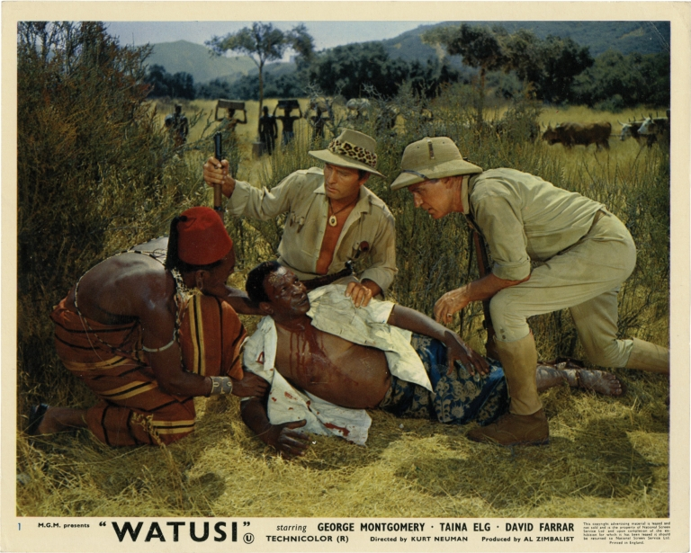 Watusi. Kurt Neumann, James Clavell, H. Rider Haggard, Kenny Bell, Rex Ingram George Montgomery, director, screenwriter, novel, still photographer, starring.