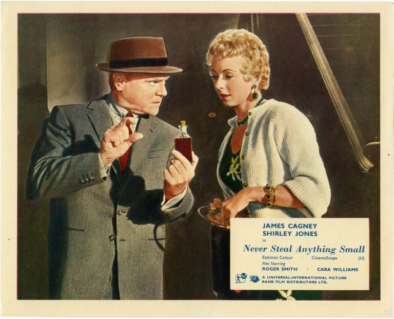 Never Steal Anything Small. James Cagney, Charles Lederer, Maxwell Anderson, Rollie Lane, Shirley Jones James Cagney, Roger Smith, starring, screenwriter director, play, photographer.