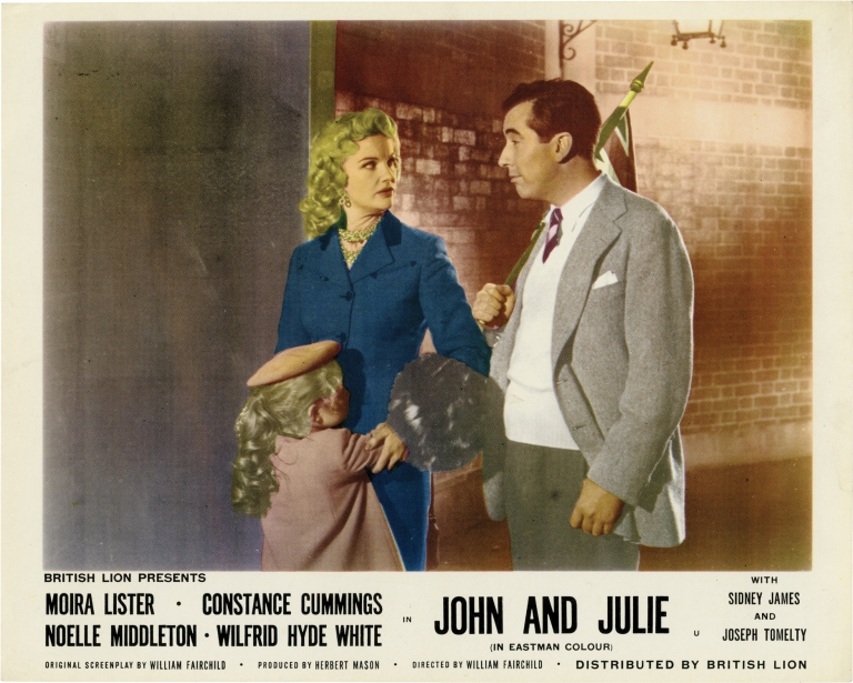 John and Julie. William Fairchild, Constance Cummings Moira Lister, Wilfrid Hyde White, Noelle Middleton, screenwriter director, starring.