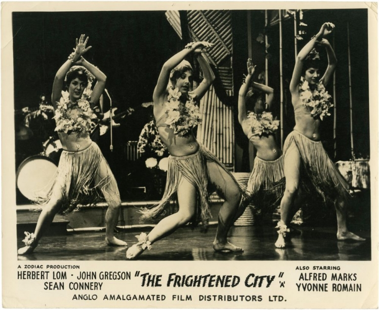 The Frightened City. Sean Connery, John Lemont, Leigh Vance, Kenneth Griffith Herbert Lom, John Gregson, starring, story director, screenwriter.