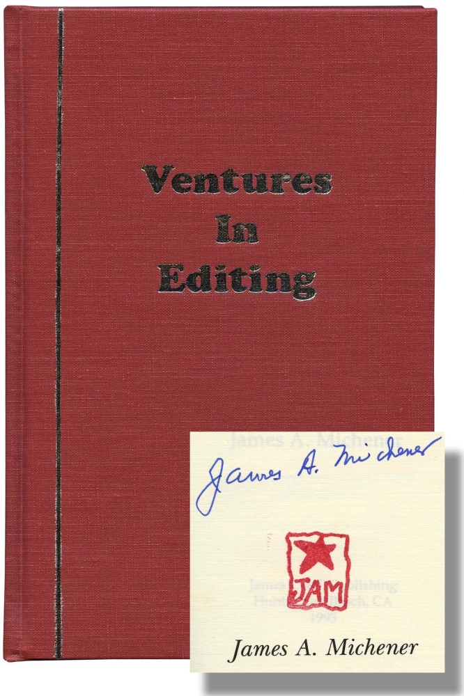 Ventures in Editing. James A. Michener.