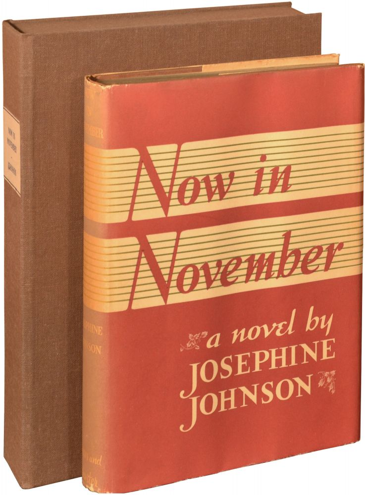Now in November. Josephine Johnson.