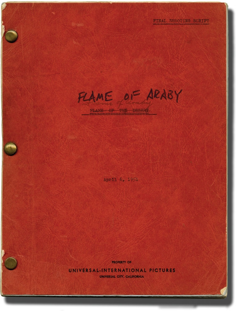 Flame of Araby [Flame of the Desert]. Charles Lamont, Gerald Drayson Adams, Jeff Chandler Maureen O'Hara, Jr, Lon Chaney, Maxwell Reed, director, screenwriter, starring.