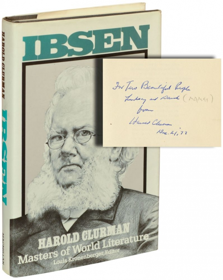 Ibsen. Harold Clurman, Henrik Ibsen, David Mamet, Lindsay Crouse, author, subject, playwright, actress.